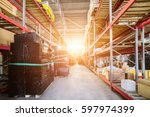 warehouse industrial and... | Shutterstock . vector #597974399