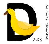 Duck Letter D Vector