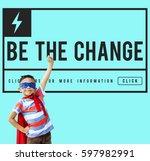 be change inspired active... | Shutterstock . vector #597982991