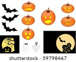 halloween elements | Shutterstock .eps vector #59798467