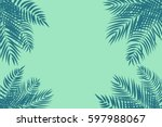 beautifil palm tree leaf ... | Shutterstock .eps vector #597988067