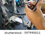 wheel repair | Shutterstock . vector #597990011