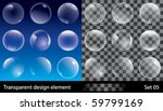 set of transparent bubbles.... | Shutterstock .eps vector #59799169