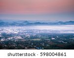 Cityscape From Top Mountain At...