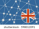 australia flag design concept.... | Shutterstock . vector #598012091