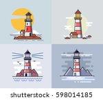 vector illustration of flat... | Shutterstock .eps vector #598014185
