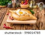 traditional georgian cuisine ... | Shutterstock . vector #598014785
