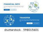 doodle web banners vector... | Shutterstock .eps vector #598015601