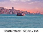 ferry cruising on the river... | Shutterstock . vector #598017155