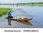 mekong delta  vietnam   22 dec  ... | Shutterstock . vector #598018601