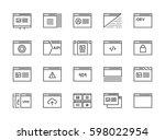 set of 48x48 minimal browser ... | Shutterstock .eps vector #598022954