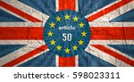 united kingdom exit from europe ... | Shutterstock . vector #598023311