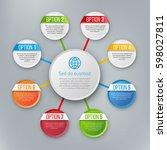 infographics flower style chart ... | Shutterstock .eps vector #598027811