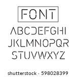 futuristic font. cosmic font.... | Shutterstock .eps vector #598028399