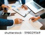 business people meeting hand... | Shutterstock . vector #598029569
