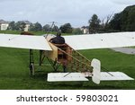 bleriot xi before taking off | Shutterstock . vector #59803021