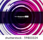 abstract technology circles... | Shutterstock .eps vector #59803324