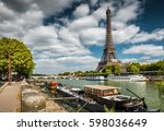 The River Seine With Boats And...