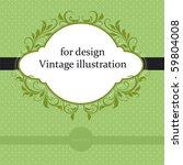 vintage card | Shutterstock .eps vector #59804008