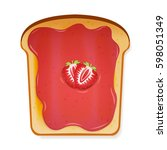 toasted bread slice of a...   Shutterstock .eps vector #598051349