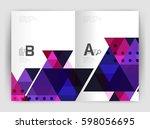 modern business brochure or... | Shutterstock .eps vector #598056695