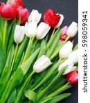 multicolored tulip flowers in a ...   Shutterstock . vector #598059341