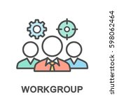 icon of the working group for... | Shutterstock .eps vector #598062464