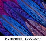 abstract fractal. fractal art... | Shutterstock . vector #598063949