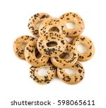 Heap Of Small Bread Rings With...