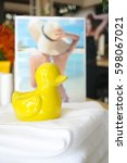 Yellow Duck Made From Ceramic ...