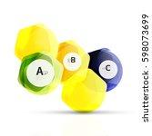 aqua glossy glass elements ... | Shutterstock .eps vector #598073699