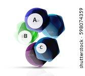 aqua glossy glass elements ... | Shutterstock .eps vector #598074359