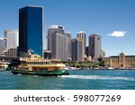 circular quay  harbour ... | Shutterstock . vector #598077269