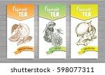 design template for organic tea ... | Shutterstock .eps vector #598077311