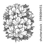 floral highly detailed hand... | Shutterstock .eps vector #598084451