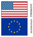 american and european union... | Shutterstock .eps vector #598086545