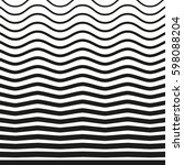 black and white striped lines.... | Shutterstock .eps vector #598088204