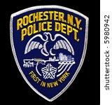 rochester  new york police... | Shutterstock . vector #5980942