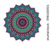 mandala. ethnic round ornament. ... | Shutterstock .eps vector #598100501