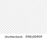 white abstract seamless pattern ... | Shutterstock .eps vector #598100909