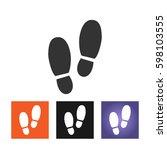 shoe print vector illustration | Shutterstock .eps vector #598103555