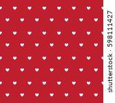 heart pattern seamless... | Shutterstock .eps vector #598111427