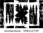 grunge black and white urban... | Shutterstock .eps vector #598112759