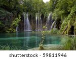 waterfalls with blue pond in... | Shutterstock . vector #59811946