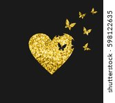 Butterflies Fly From Gold Hear...