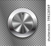 round switch knob button on...   Shutterstock .eps vector #598128569