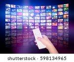 television tv stream smart... | Shutterstock . vector #598134965