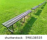 Bench Line. Six Gray Benches I...