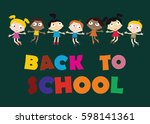 welcome back to school concept... | Shutterstock .eps vector #598141361