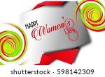 happy women's day greeting card. | Shutterstock . vector #598142309